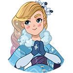 Коллекция стикеров «Снегурочка» для Telegram