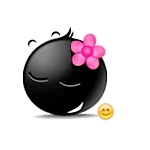 Коллекция стикеров «Black Emoji» для Телеграмм