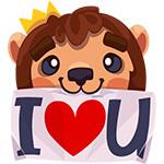 Набор стикеров «Царь зверей Лев Лео» для Telegram
