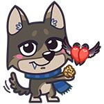 Набор стикеров «Добрый волчонок Гром» для Telegram