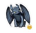 Набор стикеров «Toothless Nightfury – как приручить дракона» для Телеграмм