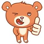 Коллекция стикеров медвеженок Бернард для Telegram