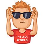 Набор стикеров «парень Лёва» для Telegram