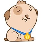 Набор стикеров «щенок Купер» для Telegram